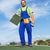worker installing bitumen roof shingles stock photo © lightkeeper
