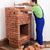 работник · здании · кирпичных · печи · блоки · огня - Сток-фото © lightkeeper