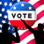 americano · presidencial · eleições · bandeira · homem · azul - foto stock © lightkeeper