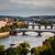görmek · köprüler · panorama · Prag · gökyüzü · su - stok fotoğraf © lightpoet