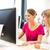 tanár · beszél · csoport · számítógépszoba · főiskola · számítógép - stock fotó © lightpoet