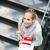 öğrenci · kampus · güzel · kadın · kitaplar · dizüstü · bilgisayar - stok fotoğraf © lightpoet