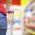 élelmiszerbolt · vásárlás · nő · gyermek · áruház · választ - stock fotó © lightpoet