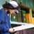 рабочих · Bee · колония · соты · стороны - Сток-фото © lightpoet