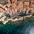 aerial view of the old town of bonifacio the limestone cliff s stock photo © lightpoet