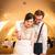 花嫁 · 新郎 · カット · ケーキ - ストックフォト © lightpoet