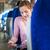 fiatal · nő · táblagép · utazó · vonat · üzlet · boldog - stock fotó © lightpoet