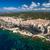 aerial view the old town of bonifacio the limestone cliff stock photo © lightpoet
