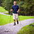 active handsome senior man nordic walking outdoors stock photo © lightpoet