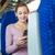 поезд · счастливым · путешествия - Сток-фото © lightpoet