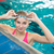 female swimmer in an indoor swimming pool   doing crawl stock photo © lightpoet