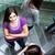 学生 · アップ · ダウン · 忙しい · 階段 · かなり - ストックフォト © lightpoet