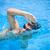 moço · natação · rastejar · piscina · esportes - foto stock © lightpoet