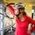 csinos · fiatal · női · motoros · hegyi · kerékpár · sekély - stock fotó © lightpoet