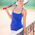 portrait of a pretty young tennis player on a court on a love stock photo © lightpoet
