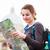 mooie · jonge · vrouwelijke · toeristische · studeren · kaart - stockfoto © lightpoet