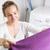 ev · işi · genç · kadın · çamaşırhane · sığ · renk - stok fotoğraf © lightpoet