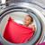 trabalhos · domésticos · mulher · jovem · lavanderia · raso · cor - foto stock © lightpoet