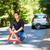 roto · abajo · coche · llamada · ayudar · persona - foto stock © lightpoet