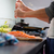 şef · tuz · balık · pişirme · mutfak - stok fotoğraf © lightpoet