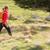 bastante · mulher · jovem · caminhadas · montanhas · movimento · turva - foto stock © lightpoet
