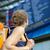 dość · młoda · kobieta · abordaż · pociągu · miasta · miejskich - zdjęcia stock © lightpoet