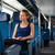 mulher · jovem · trem · negócio · mulher · menina - foto stock © lightpoet