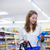 Beautiful young woman shopping in a grocery store/supermarket stock photo © lightpoet