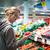 csinos · fiatal · nő · vásárlás · gyümölcsök · zöldségek · gyönyörű - stock fotó © lightpoet