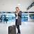 молодые · женщины · аэропорту · ждет · полет - Сток-фото © lightpoet