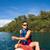 jongen · kajak · antenne · twee · tienerjongens · kajakken - stockfoto © lightpoet