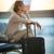 молодые · женщины · аэропорту · ждет · полет · посадка - Сток-фото © lightpoet