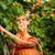 csinos · fiatal · nő · szőlőszüret · meleg · nyár · este - stock fotó © lightpoet