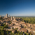 in the very heart of tuscany   aerial view of the medieval town stock photo © lightpoet