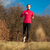 young woman running outdoors on a lovely sunny winterfall day stock photo © lightpoet