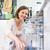 современных · кухне · девушки · счастливым · домой - Сток-фото © lightpoet