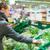 gyönyörű · fiatal · nő · vásárlás · gyümölcsök · zöldségek · termény - stock fotó © lightpoet