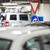 garage · rij · uniform · deuren · blauwe · hemel · deur - stockfoto © lightpoet