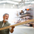 hombre · compra · construcción · madera · tienda - foto stock © lightpoet