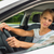 young woman driving her car on her way home from work stock photo © lightpoet