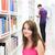 diák · könyvtár · kettő · boldog · nő · olvas - stock fotó © lightpoet