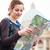 ziemlich · jungen · weiblichen · touristischen · Studium · Karte - stock foto © lightpoet