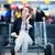 jóvenes · femenino · aeropuerto · espera · vuelo - foto stock © lightpoet