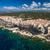 aerial view the old town of bonifacio the limestone cliff sout stock photo © lightpoet