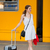 Pretty young woman at a train station stock photo © lightpoet