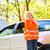 giovani · femminile · driver · indossare · alto · visibilità - foto d'archivio © lightpoet