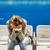 triste · seuls · grand · ville · déprimée · jeune · femme - photo stock © lightpoet