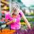 mulher · jovem · compra · flores · jardim · centro · cor - foto stock © lightpoet