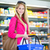 beautiful young woman shopping in a grocery storesupermarket stock photo © lightpoet