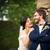 retrato · jovem · casamento · casal · dia · olhando - foto stock © lightpoet